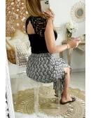 """Ma superbe jupe longue et fendue satinée """"black & beige"""""""