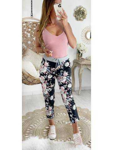 "Mon pantalon style jogging ""pink flowers"""