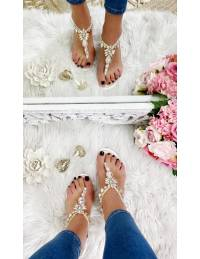 """Mes sandales blanches  """"so diamond"""""""