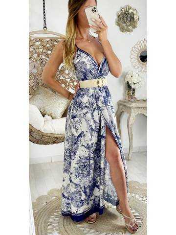 """Ma robe longue cache coeur et portefeuille """"blue print """""""