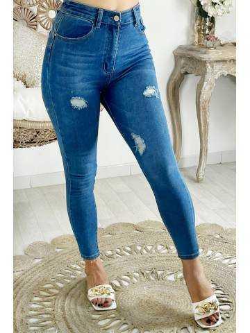 Mon Jeans blue medium & destroy