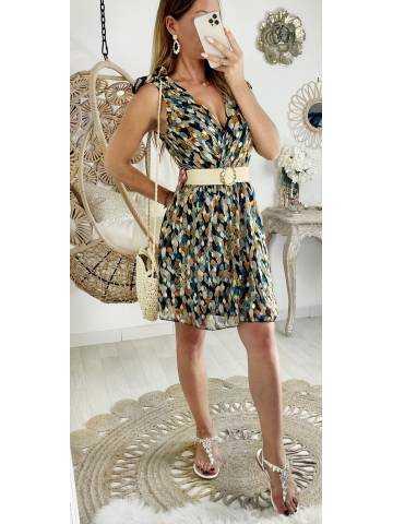 """Ma jolie robe leafs gold """"bretelles nouées"""""""
