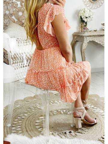"Ma jolie robe corail liberty ""joli dos échancré"""