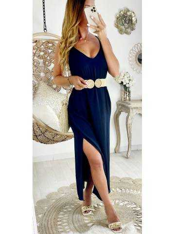 """Ma jolie robe longue dos croisé """" dark blue """""""