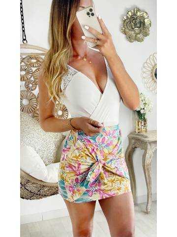 """Ma jolie jupe so colors """"drapée et nouée"""""""