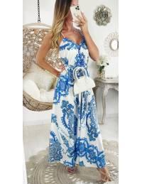"""Ma robe longue dos nu """"blue cashmere"""""""
