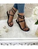 Mes petites sandales black cloutées II