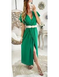 Ma robe longue Green cache coeur et porte feuille