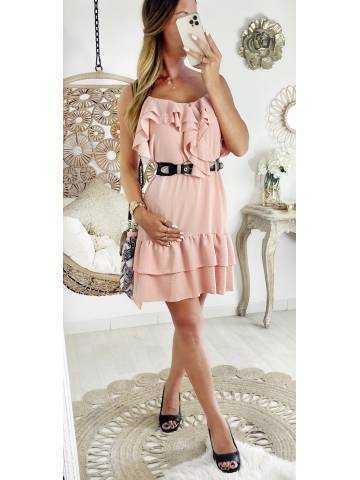 """Ma jolie robe rose pale """"décolleté et bas volants"""""""