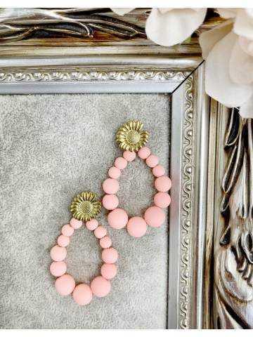 "Boucles d'oreilles ""Pink Pearls"""
