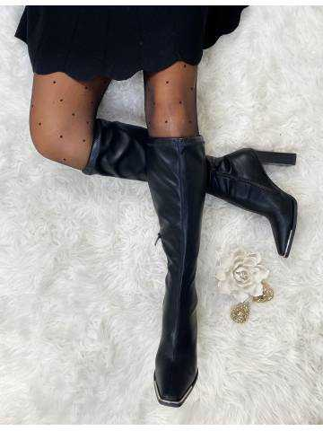 """Mes bottes à talon  black """"style cuir & gold"""""""