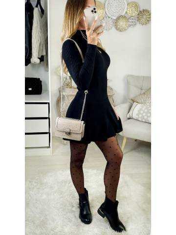"""Ma robe pull black """"col roulé et évasée'"""