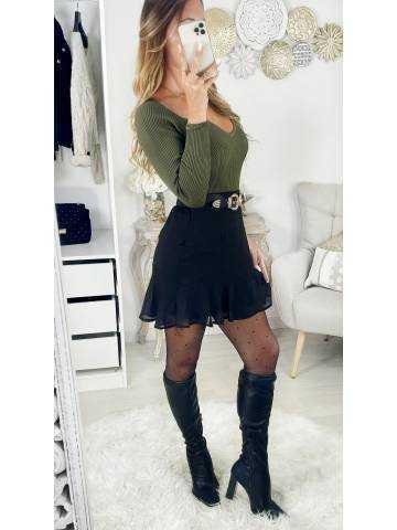 Ma jolie jupe volants black & plumetis