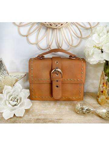 """Mon sac style valisette """"caramel & Gold"""""""