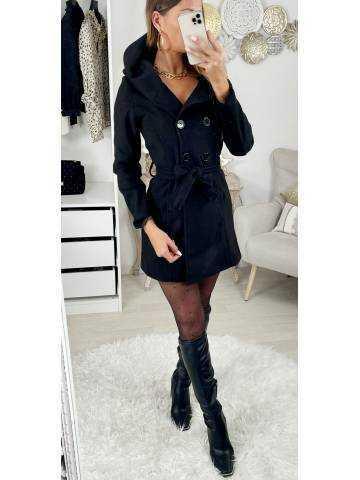 Mon manteau en lainage black & hood