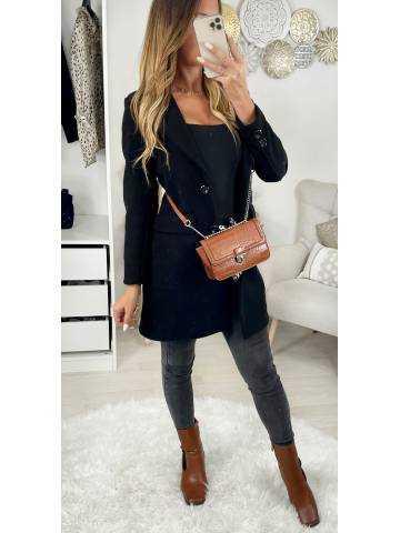 """Mon manteau en lainage black """" boutonné"""""""