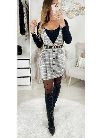 "Ma jolie robe black & white  ""style tweed et bretelles"" II"