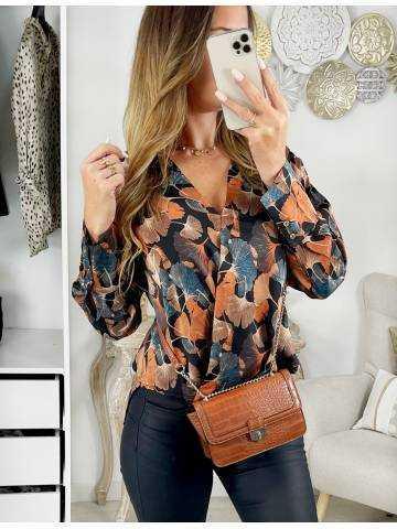 "Ma petite blouse satinée ""Autumn Print"""